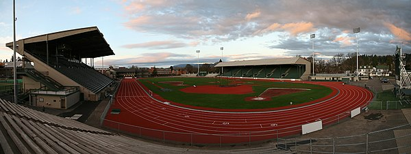 Hayward Field in 2007, prior to 2018 renovation