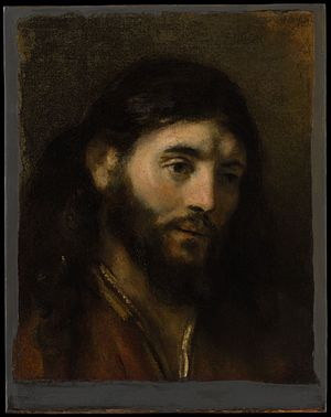 Head of Christ (Rembrandt) - Image: Head of Christ MET DP145916