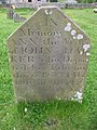 Headstone In Kirk Park - geograph.org.uk - 825666.jpg