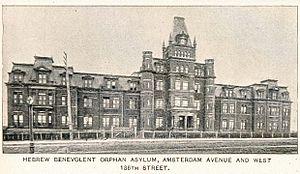 Hebrew Orphan Asylum of New York - The Amsterdam Avenue building in 1893