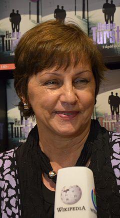 Helene Tursten, interviewet for Wikipedia.