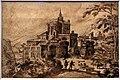 Hendrick III van cleve, paesaggio italiano con un complesso di rovine, 1586.jpg