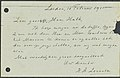 Hendrik Antoon Lorentz - postcard (briefkaart) - to J.F. Hulk, curator art of Teylers Museum, Haarlem - 10 February 1911 - 1.jpg