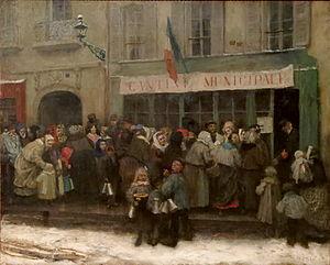 Henri Pille - Cantine municipale pendant le siège de Paris, 1870–1871, musée Carnavalet