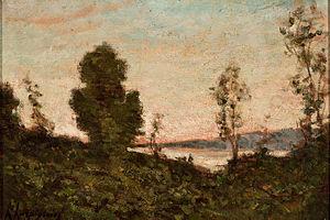Henri Harpignies - Landscape by Harpignies at Museu de Arte de São Paulo, Brazil.