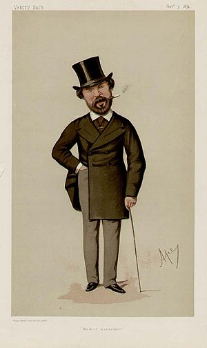Henry Labouchère - Caricature by Ape in Vanity Fair, 1874