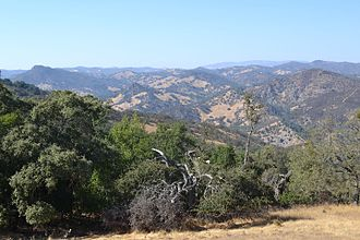 Henry W. Coe State Park - A view of the park close to Dowdy Ranch Visitor Center.