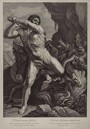Hydrarchy - Image: Hercules killing the hydra headed monster