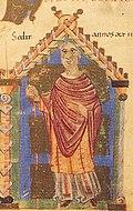 Heribert Bischof von Eichstätt 1022-1042 aus dem Pontifikale Gundekarianum.jpg