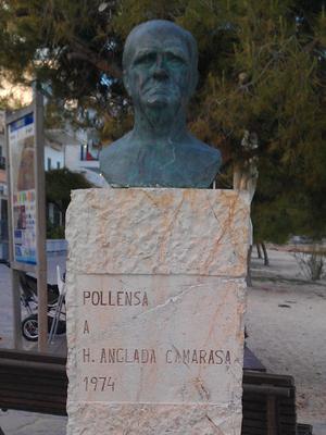 Hermenegildo Anglada Camarasa - Bronze bust at Port de Pollença