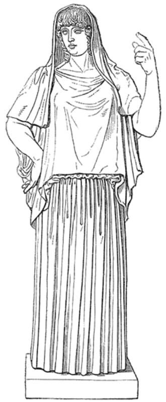 Hestia - The Giustiniani Hestia in O. Seyffert, Dictionary of Classical Antiquities, 1894