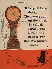 Hickety Dickety Dock, illustrated by William  Wallace Denslow, from a 1901 Mother Goose collection