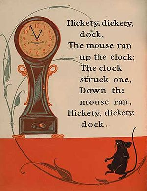 Hickory Dickory Dock - Image: Hickety Dickety Dock 1 WW Denslow Project Gutenberg etext 18546