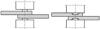 Cold welding - scheme of cold welding