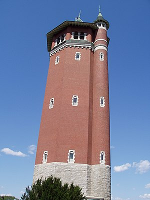 High Service Water Tower and Reservoir - Image: High Service Water Tower (1895), Lawrence, Massachusetts