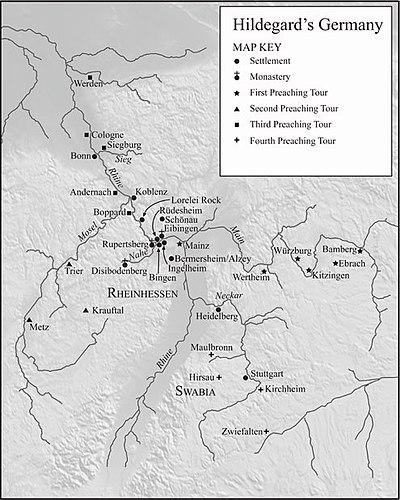 Bingen Germany Map.Hildegard Of Bingen Wikiwand