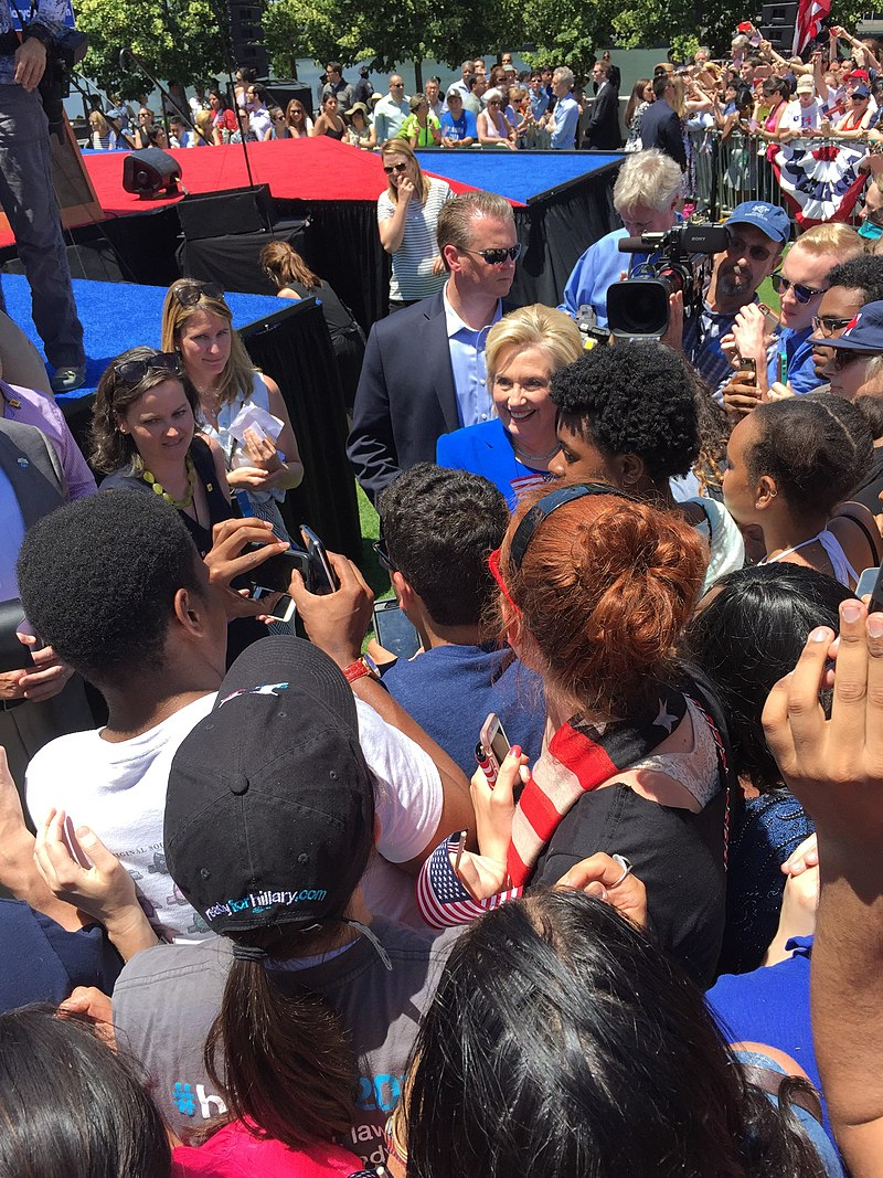 Hillary Clinton 2016 Kickoff %E2%80%94 Greeting Crowd.jpeg