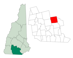 Location in شهرستان هیلزبرو، نیوهمپشایر