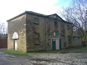 Hillsborough House - The coach house and stables still in a run down state in early 2013.