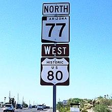 U S  Route 80 in Arizona - Wikipedia