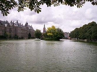 Hofvijver - View from the Hague historical museum on the Korte Vijverberg