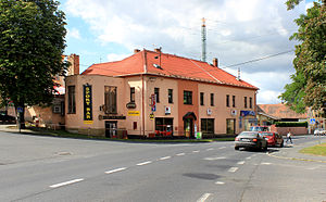 Holýšov - Image: Holýšov, bank and restaurant