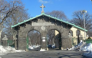 Holy Cross Cemetery, Brooklyn - Image: Holy Cross Cemetery gate jeh