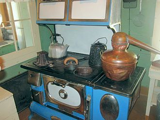 Kitchen stove - A stove at Holzwarth Ranch National Historic Site in Rocky Mountain National Park, Colorado