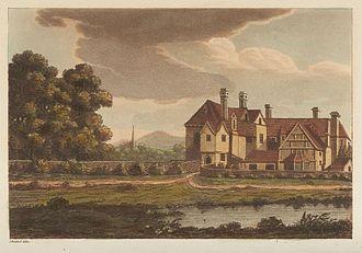 Samuel Ireland - Cloptan House, from Picturesque Views on the Warwickshire Avon, 1795