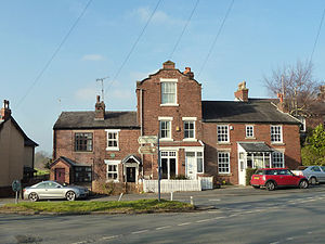 Hilldale, Lancashire - Image: Houses at junction of Chorley Road and Malt Kiln Lane Geograph 4355225