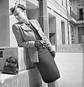 How a British Woman Dresses in Wartime- Utility Clothing in Britain, 1943 D14790.jpg