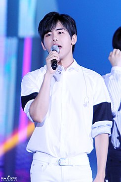 Hoya at the 2015 DMZ Pyeonghwa Concert 1.jpg