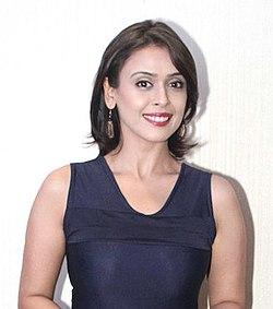 Hrishitaa Bhatt during trailer launch of the film 'Chal Jaa Bapu'.jpg