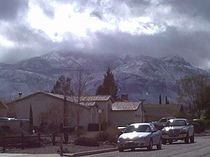 Carr Peak - Image: Huachuca Mountains in the Winter 1