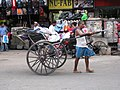 Human powered rickshaw (7354728830).jpg