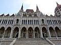 Hungarian Parliament, Danube side detail, 2013 Budapest (392) (13227736284).jpg