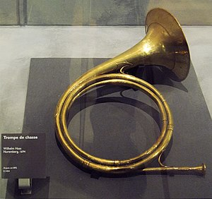 German Hound - A hunting horn, used to communicate with hounds