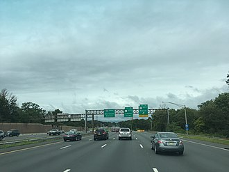 Interstate 287 - I-287 northbound at US 1 in Edison