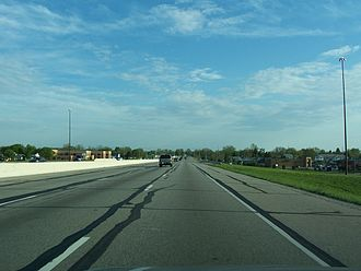 Interstate 65 in Indiana - I-65 just outside Indianapolis