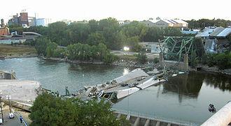 I-35W Saint Anthony Falls Bridge - The previous 9340 Bridge, post-collapse