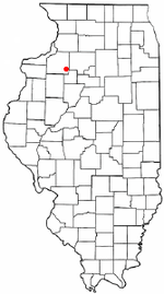 Location of Kewanee, Illinois