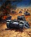 INF3-22 Tank battle Artist Krogman 1939-1946.jpg