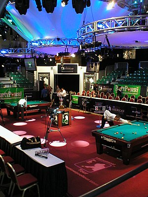 International Pool Tour - IPT Starship Stage at North American Open held in Las Vegas, July 2006, for TV rounds and Finals