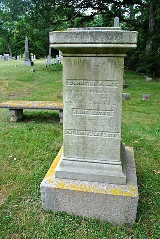 Katharine Lee Bates - Oak Grove Cemetery, Falmouth, MA, Original tombstone