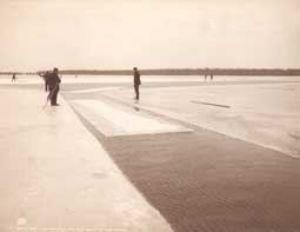 Ice Harvesting on Lake St Clair Michigan circa 1905--photograph courtesy Detroit Publishing Company