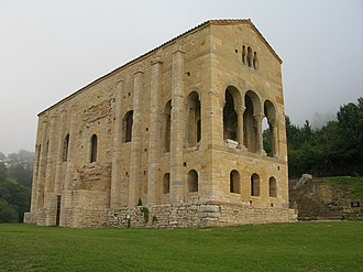 Asturias - Santa María del Naranco, ancient palace of Asturian Kings, 842 AD. Many churches of Asturias are among the oldest churches of Europe since Early Middle Ages.
