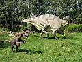 Iguanodon - Deinonych - JuraPark Baltow.JPG