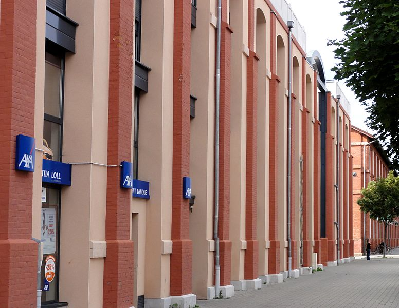 Alsace, Bas-Rhin, Illkirch-Graffenstaden, Centre commercial Centr'Ill (ancienne friche industrielle).