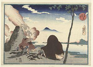 Imado - Kilns of Imado along the river in Asakusa, ukiyo-e by Utagawa Kuniyoshi, Edo period, 19th century