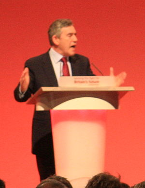 Gordon Brown at the Labour Party Conference 2008